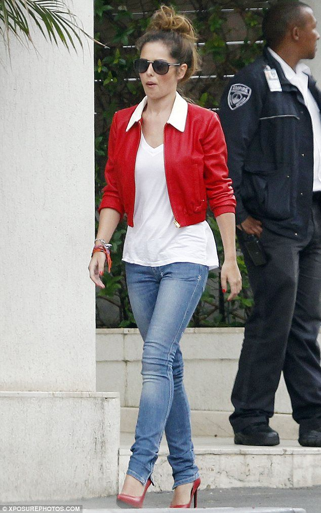 Looking good- Cheryl Cole rocking red