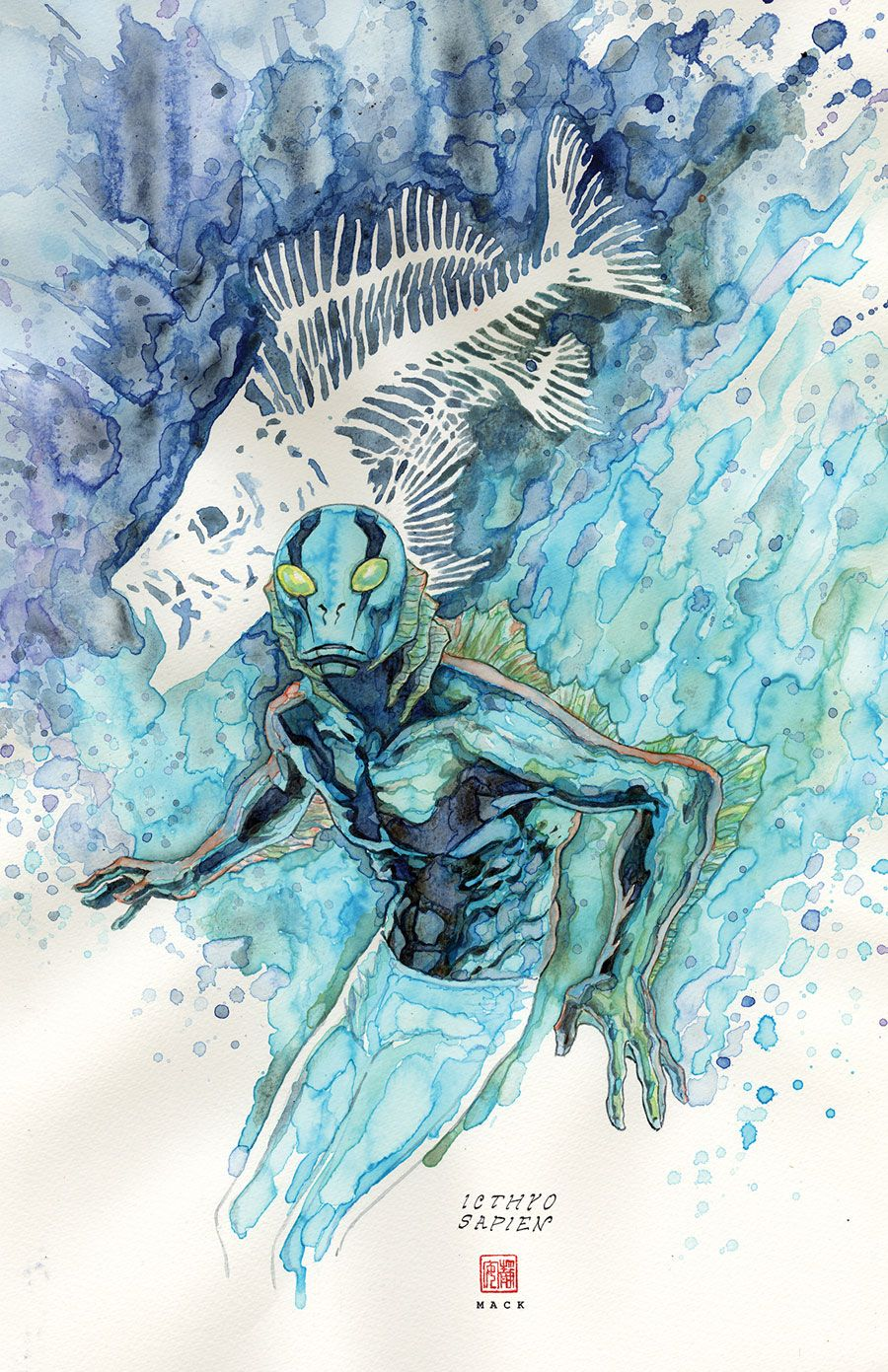 Abe Sapien #31 - Variant cover by David Mack