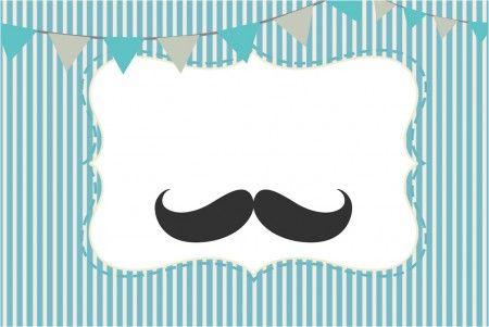 Convite Chá De Bebê Mustache 1 Invitaciones De Bigote