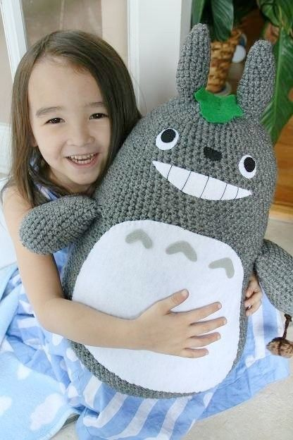 Extra Large Crochet Totoro - My Neighbor Totoro - MADE TO ORDER ... 209310dff