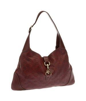 Red Leather Jackie O (19129) Hobo Bag  f1ffe3024dfeb