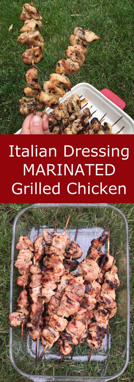 Italian Dressing Marinated Grilled Chicken Kebabs Recipe