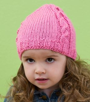 dabf608438c2 How To Knit A Cabled Baby Beanie Free Pattern