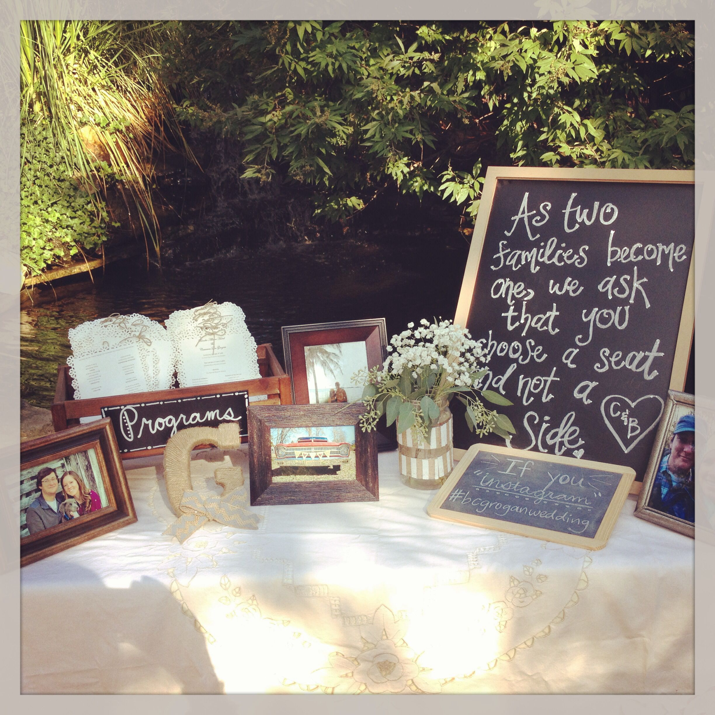 Greeting Table At Wedding For Programs, Pictures And