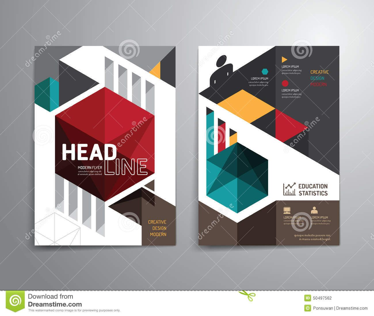 Photo About Vector Brochure Flyer Magazine Cover Booklet Poster Design Template