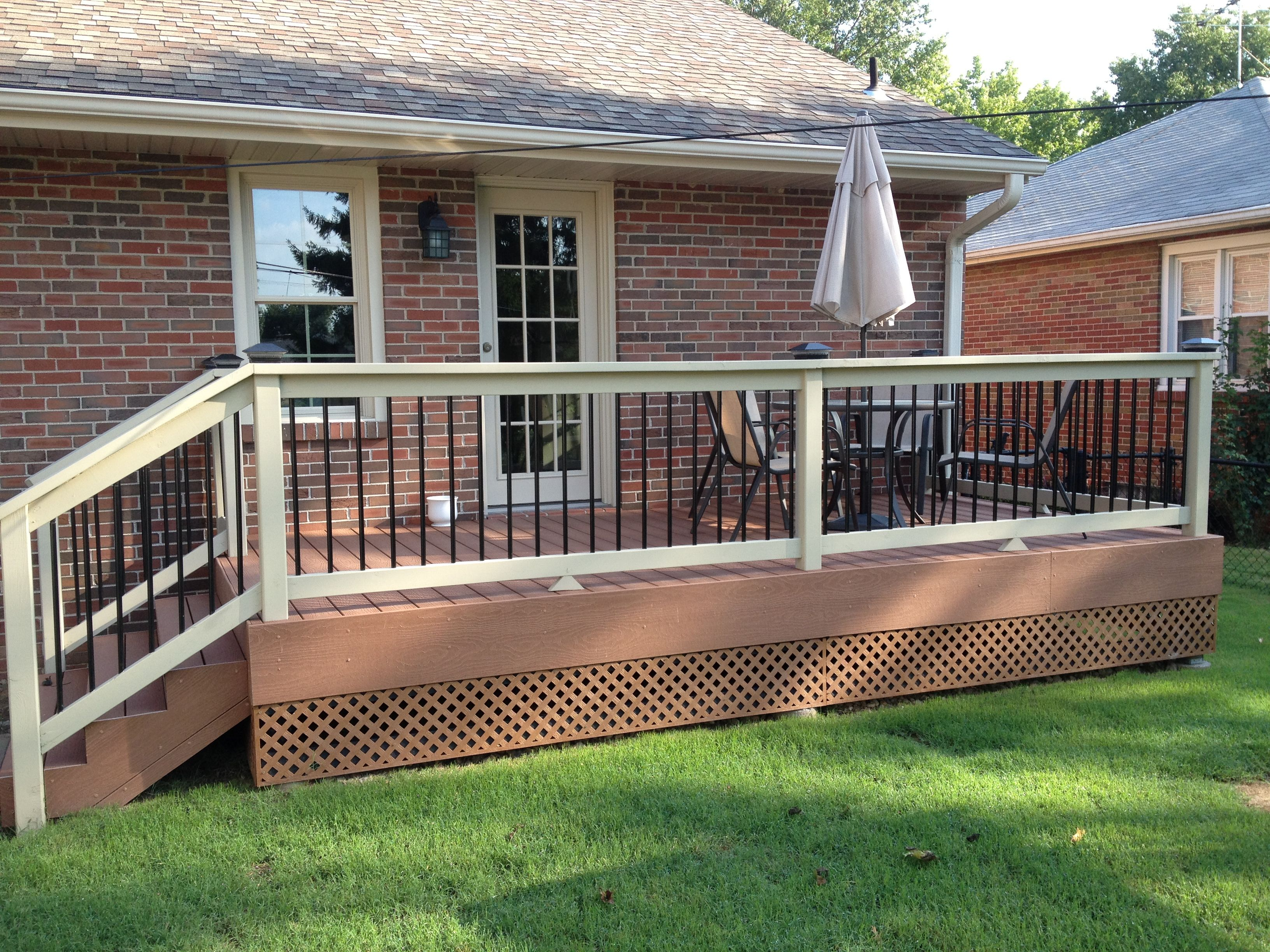 Best Evergrain Redwood Deck And Skirt Boards With Cedar Painted 400 x 300
