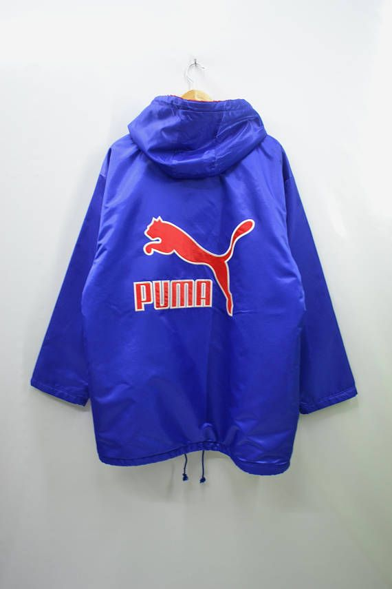 096842d5d519 PUMA Jacket Vintage 90 s Puma Big Logo Spell Out Long