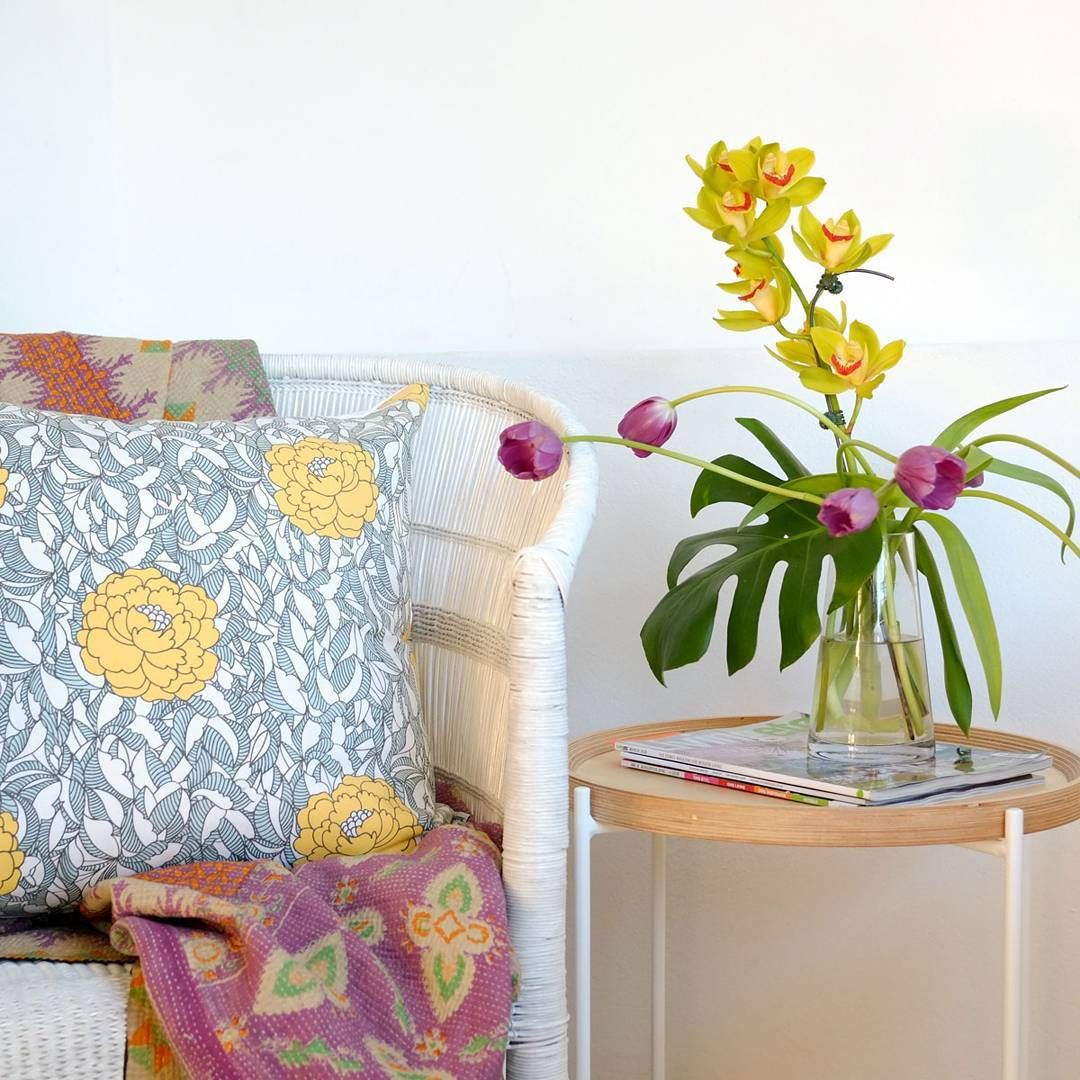 Loving this exotic yellow and purple colour combo Lets hopehellip