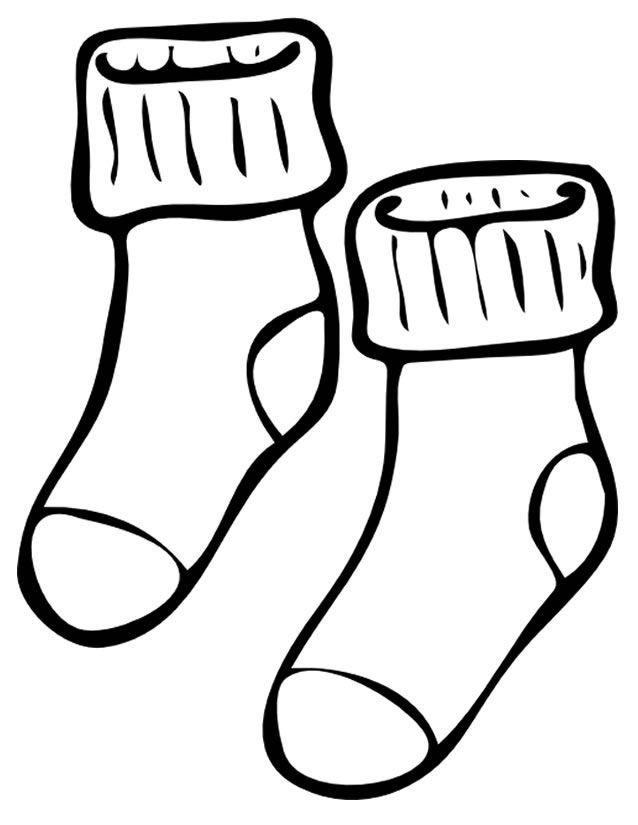 черно белый рисунок носок образец взято