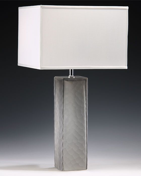 Grey Murano Glass Lamp and Contemporary Venetian Glass Table