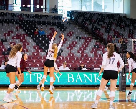 Pin By Kathy Guenveur On Troy Volleyball Volleyball Sport Hall Troy University