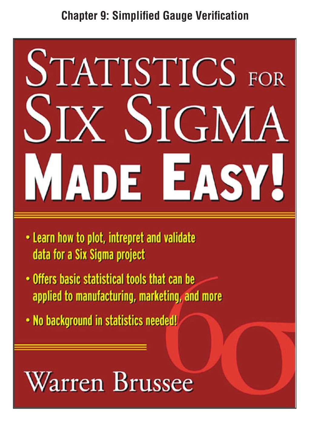 hight resolution of statistics for six sigma made easy chapter 9 simplified gauge verification ebook