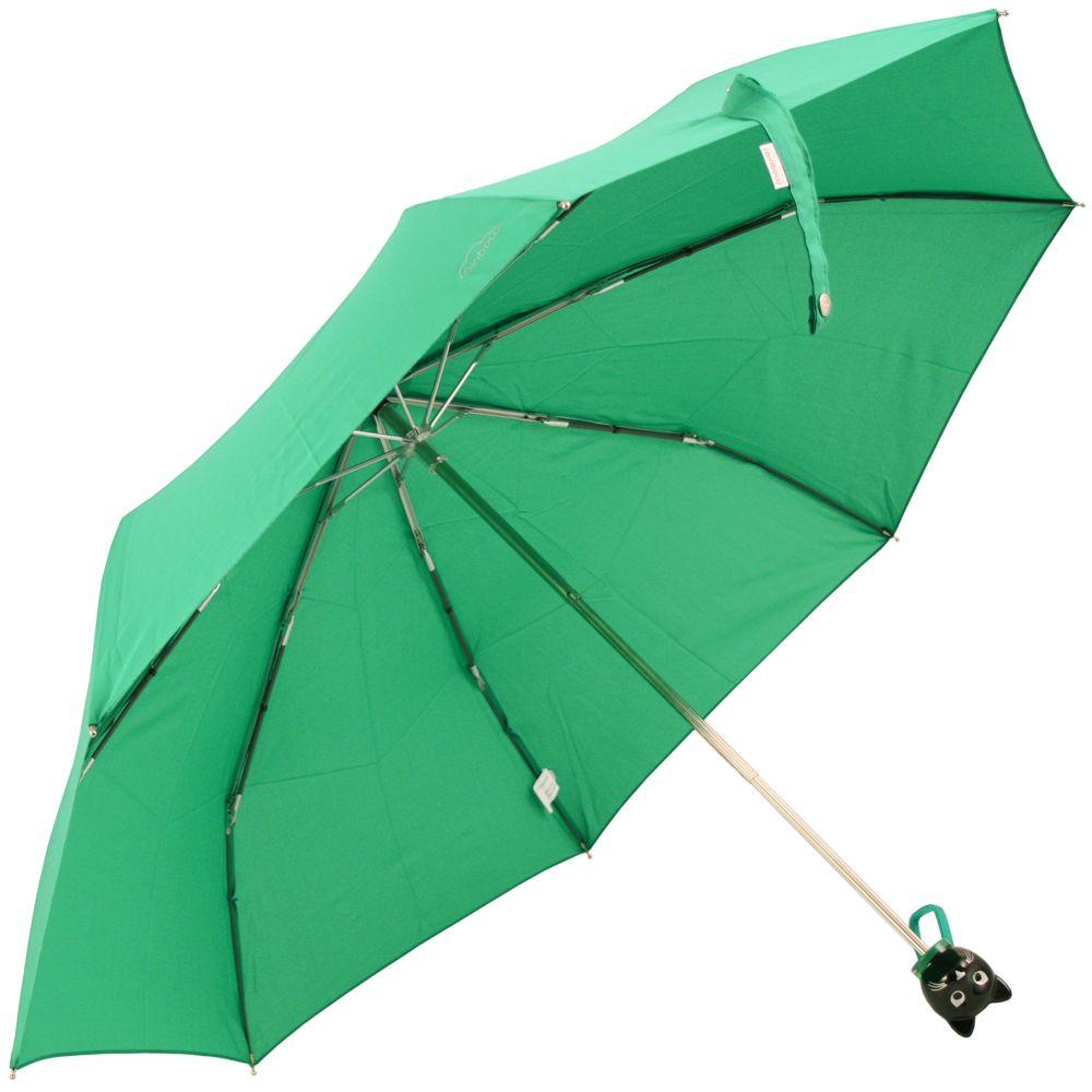 Mint Green Cat Folding Umbrella by Rainbow of Milan
