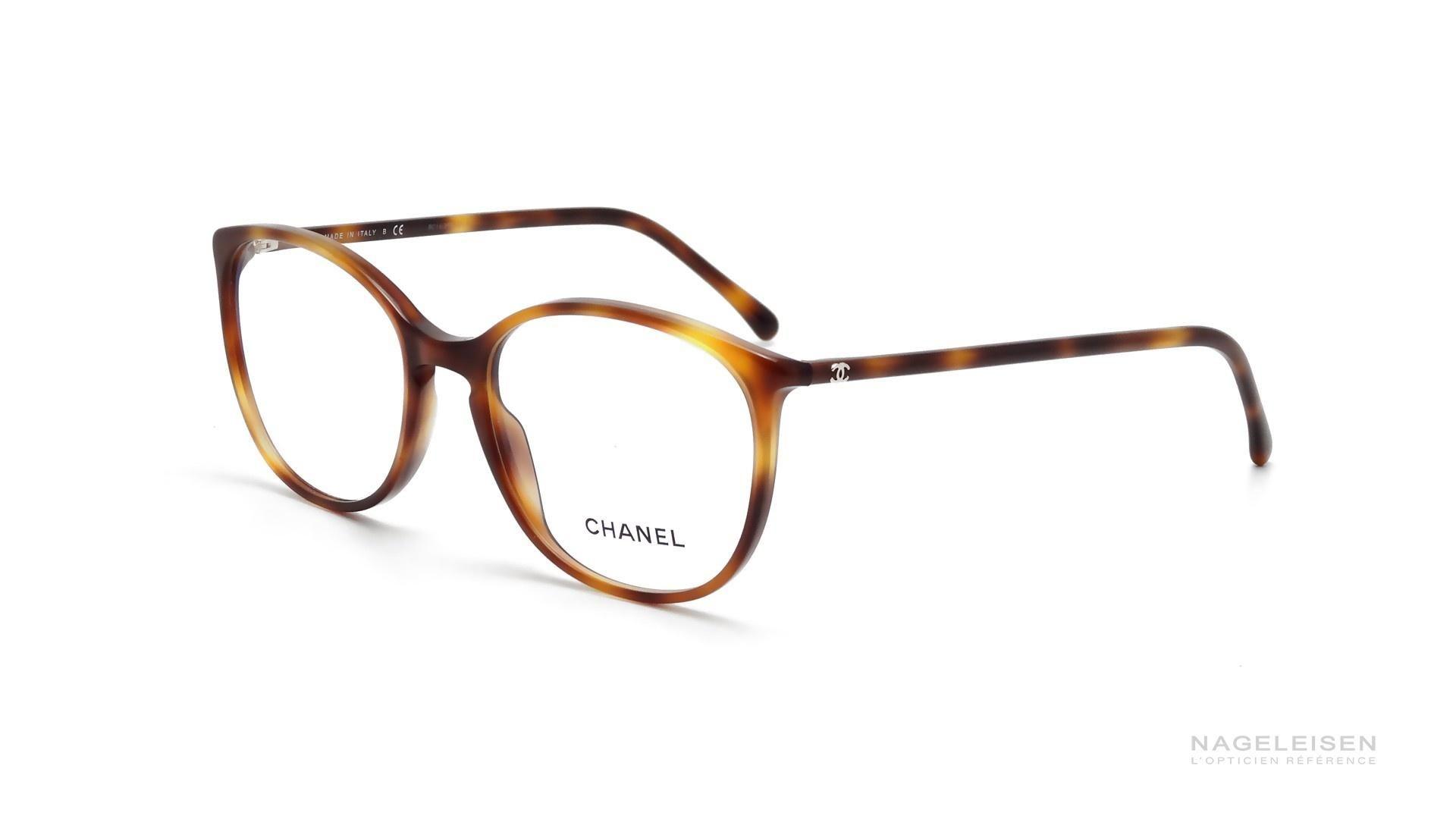 Lunettes de vue Chanel CH 3282 C1295 Écaille Large   mode ... f6c6d4f5afa3