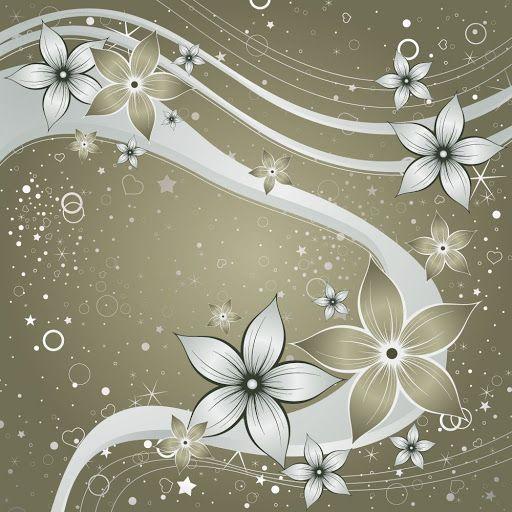 Kwiaty Flower Design Vector Flower Wallpaper Purple Wallpaper