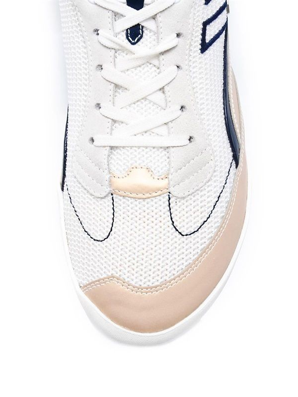 Cesare Paciotti - White Blue Athletic Sneakers.