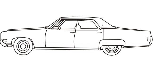 Car Outlines Classic Car Outline Car Silhouette Retro Cars Vintage Cars