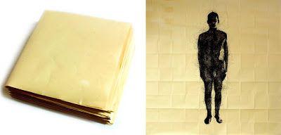 "Mauro Morittu, ""Human quantum"", pen on tracing Ciat-paper folded, cm20x20; open cm200x200, June 2013 | Time in Space: Inside"