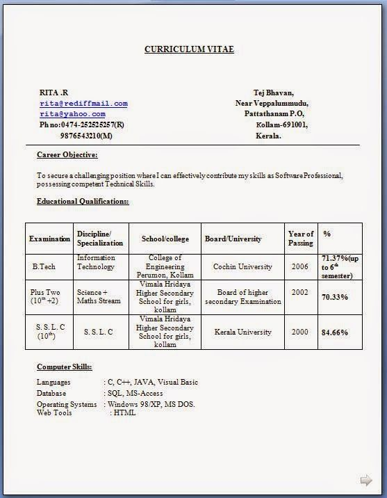 hr resume examples Sample Template Example of ExcellentCV   Resume - hr resume examples