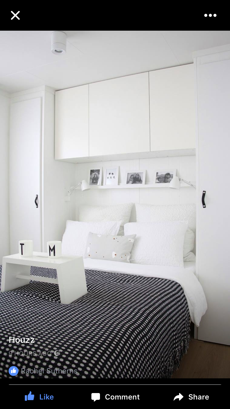 Master bedroom shelves above the bed  Pin by Rachel Sutherns on Bedrooms  Pinterest  Bedrooms