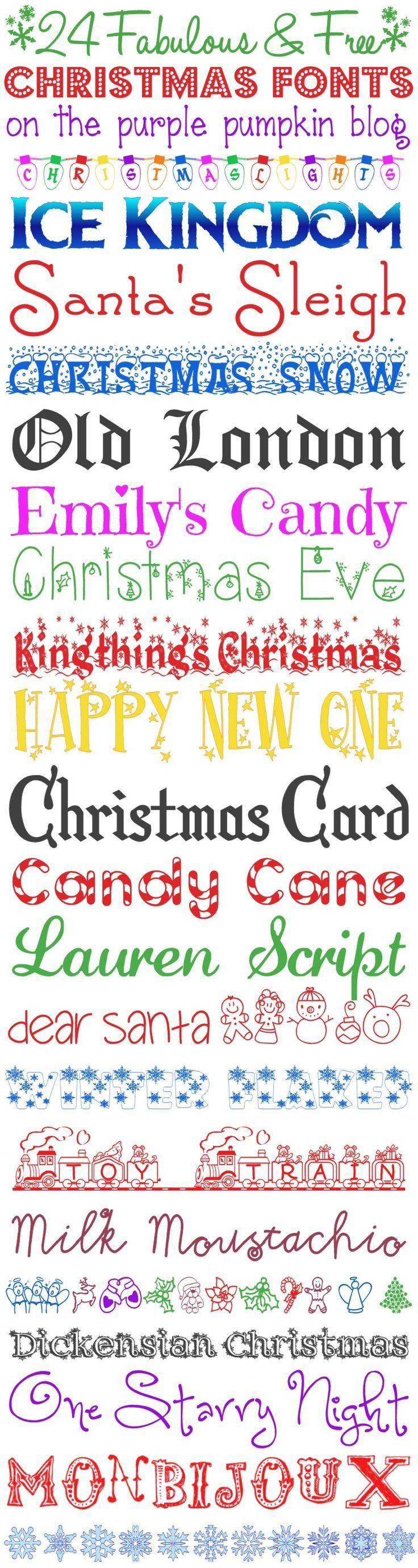 24 fabulous and free christmas fonts for all your christmas and festive projects  [ 736 x 2760 Pixel ]