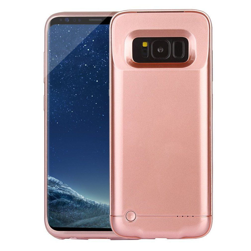 Redgo Galaxy S8 Battery Case 4200mah Rechargeable External Battery Pack With Led Indicator Slim Cell Phone Battery Charger External Battery Pack Samsung Galaxy