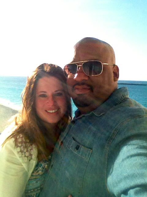 Me & my wife on vacation in the Bahamas. | Paradise island