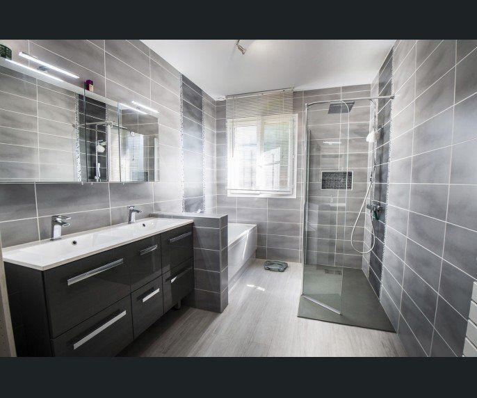 Salle de bains Gris argent SENSEA Contemporain   Actuel salle bain