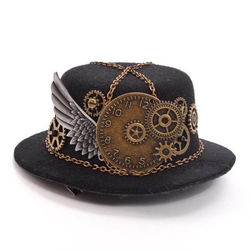 Women/'s Pirate Captain Cappello Vittoriano Steampunk Accessorio Costume Adulti
