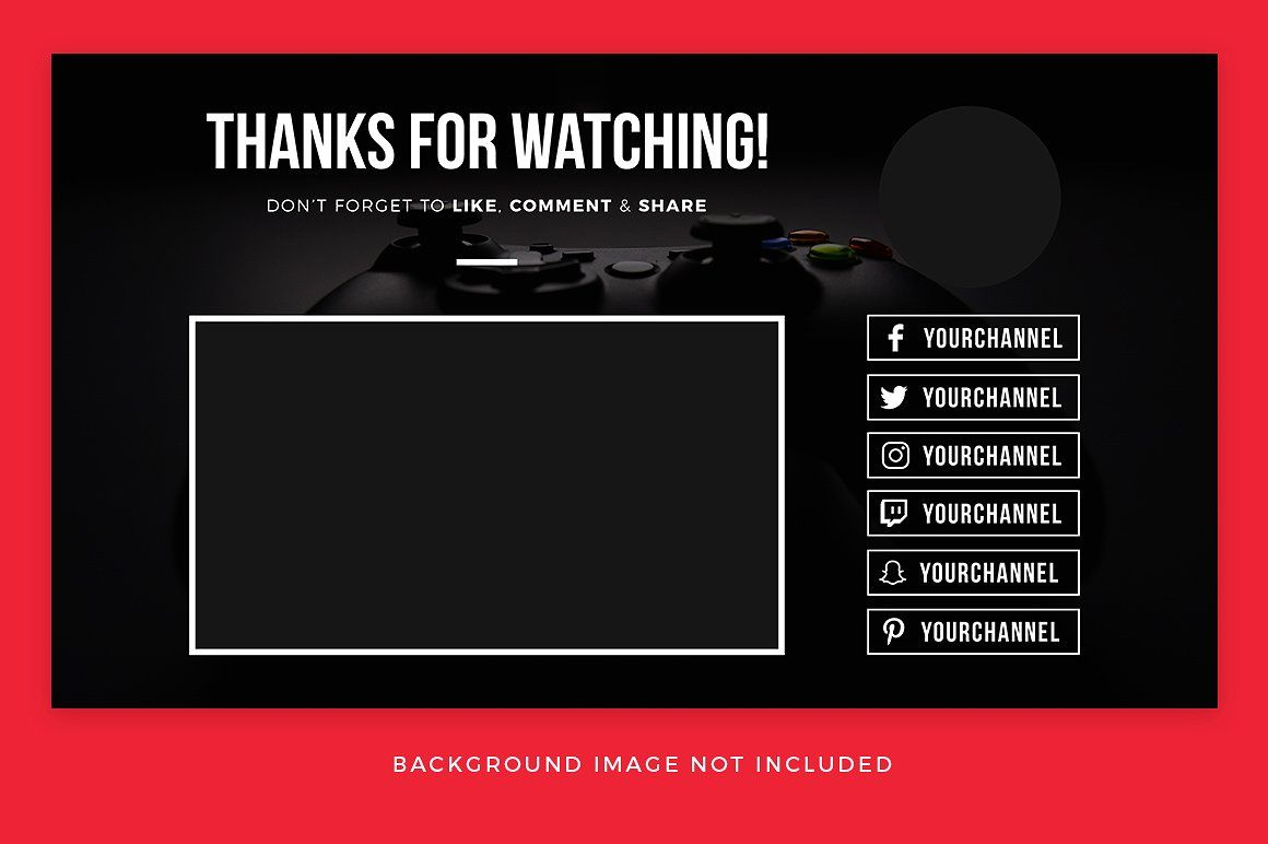 Youtube End Card Templates Card Templates Youtube Design Youtube