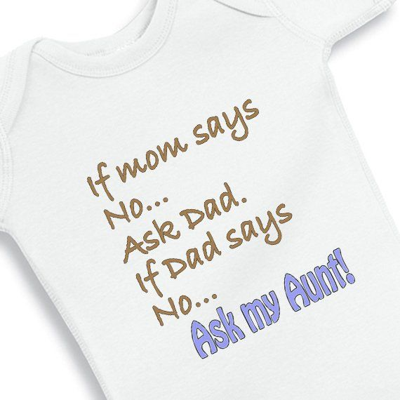 Personalized aunt uncle baby gifts if mom says no ask my aunt personalized aunt uncle baby gifts if mom says no ask my aunt baby onesie nanycrafts negle Image collections
