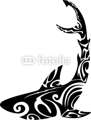 Shark Tattoo-Vector © bluedarkat | mi * | Pinterest | Tatuajes ...