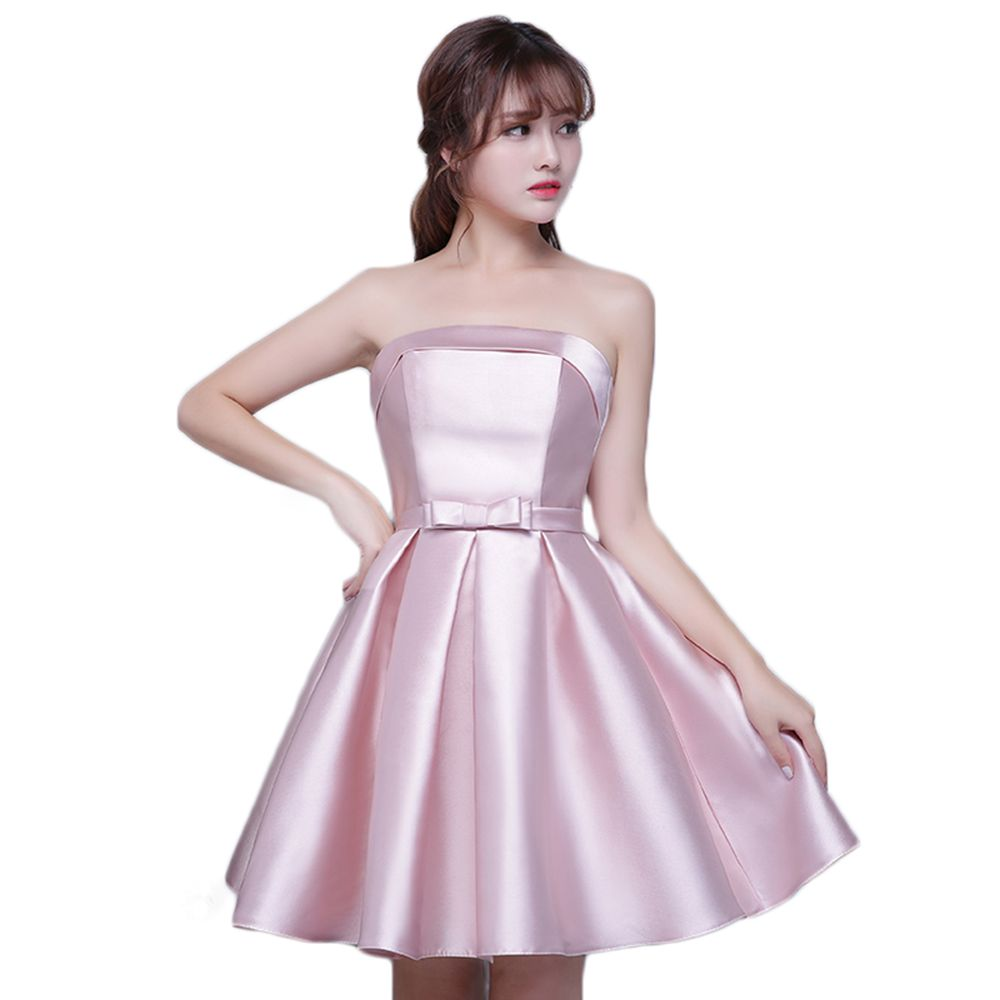 Strapless satin cheap short bridesmaid dresses under 50 pink strapless satin cheap short bridesmaid dresses under 50 pink silver champagne sky blue maid of honor ombrellifo Gallery