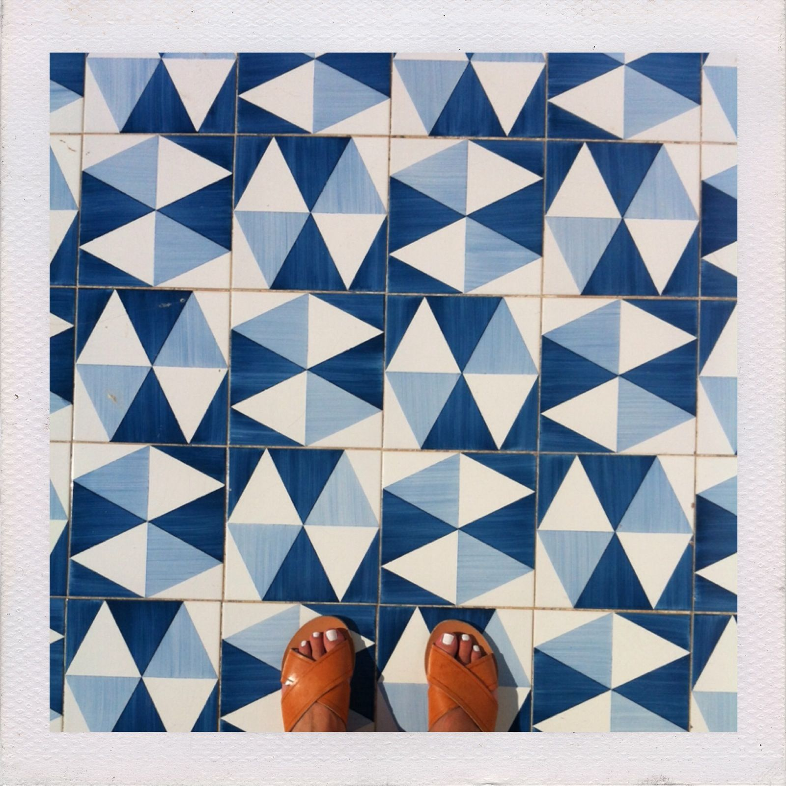 Ancient greek sandals and tiles by gio ponti at parco dei - Piastrelle gio ponti ...