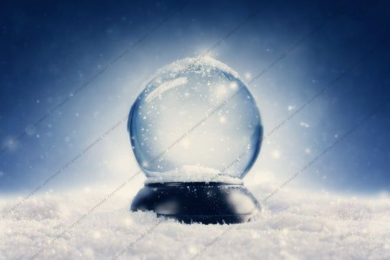 Snow Globe / Winter Background for Photographers / Christmas Backdrop for Photography / Digital Downloads & Overlays #backdropsforphotographs