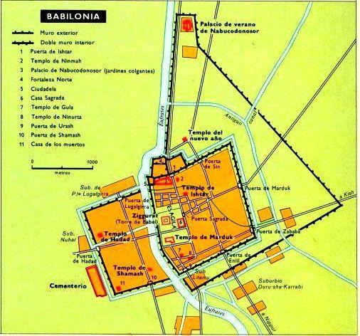 Plano Ciudad De Babilonia Se Aprecia La Doble
