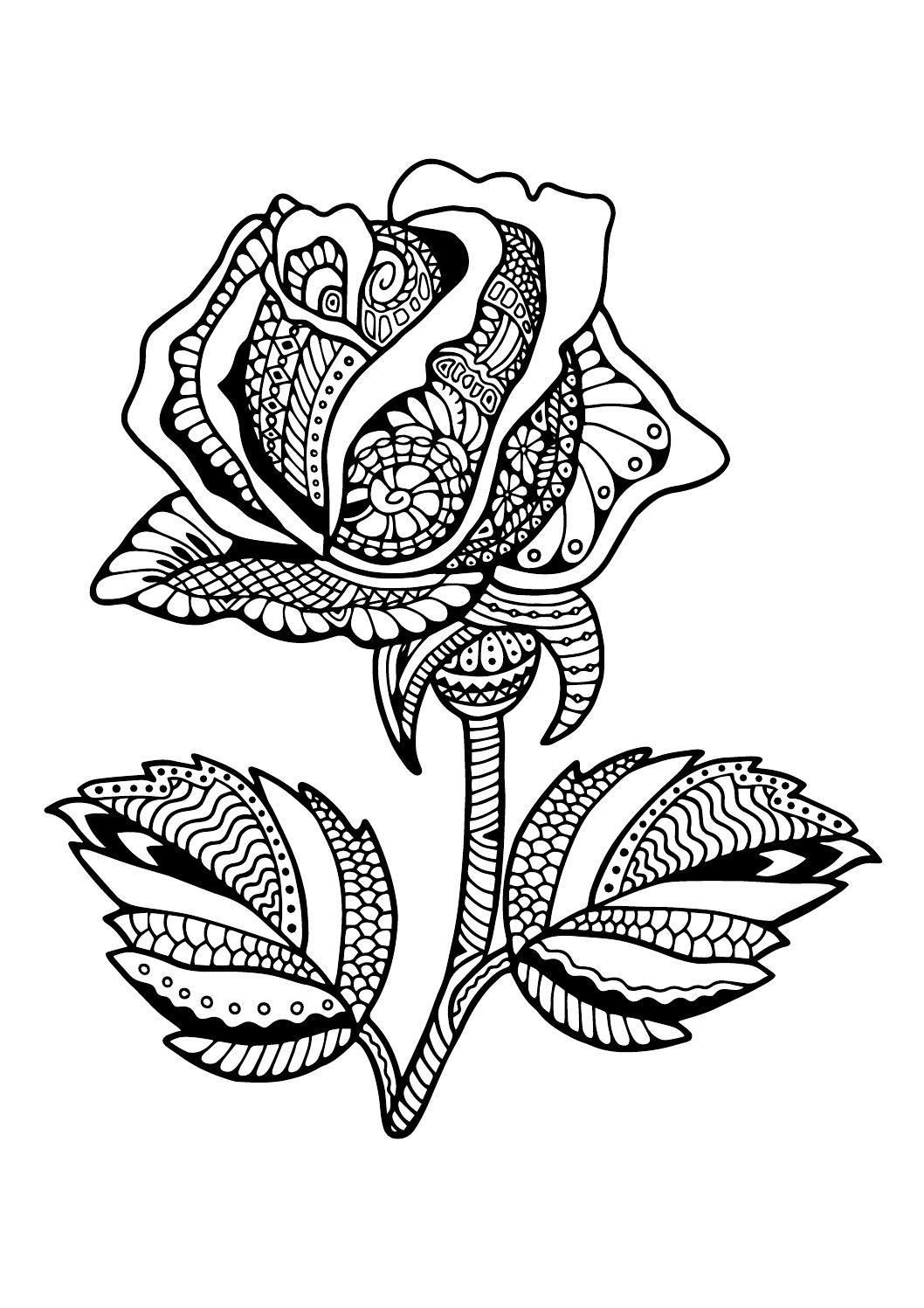 Pin By Fleur Feyaerts On Coloring Floral Coloring Pages Steampunk Coloring Flower Coloring Pages