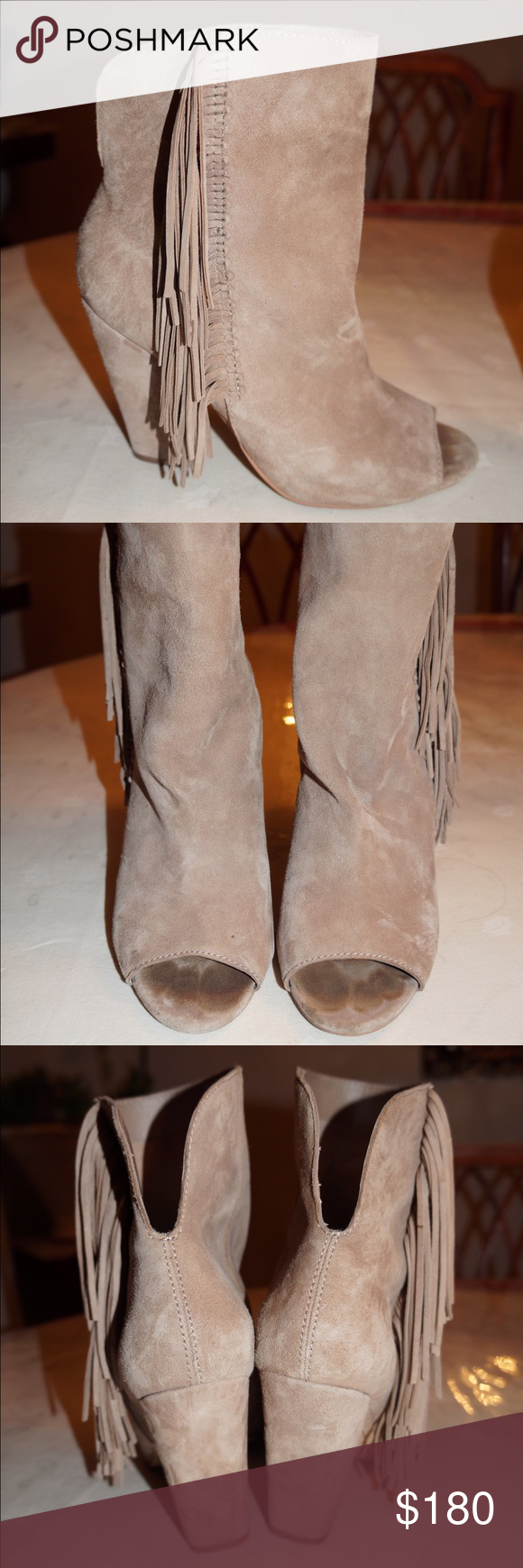 Dolce Vita Tan Fringe Booties Worn once. In great condition! Open to offers Dolce Vita Shoes Ankle Boots & Booties