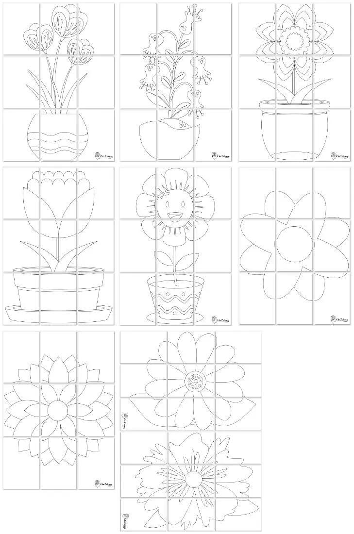 Kolorowanki Xxl Z Kwiatami W Formacie 3x3 Do Pobrania I Druku Word Search Puzzle Puzzle Words