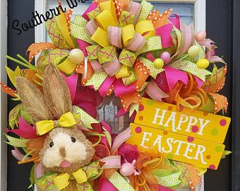 Easter Bunny Wreath,Easter Front Door Wreath Door Wreaths,Easter ...