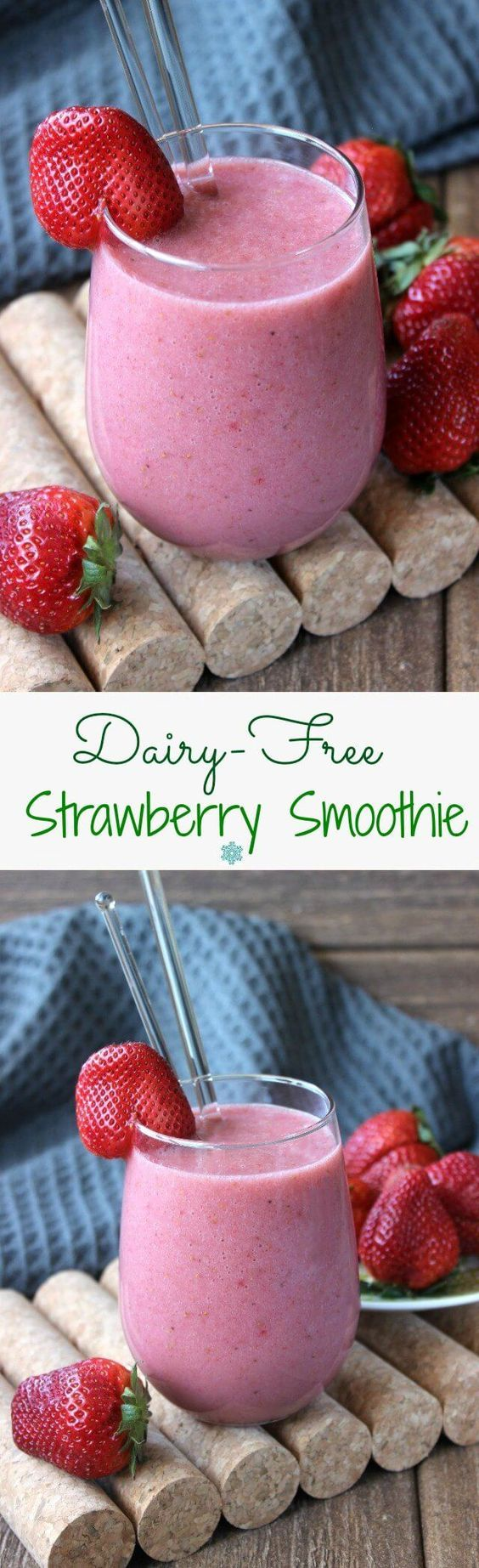 Dairy-Free Strawberry Smoothie #dairyfreesmoothie
