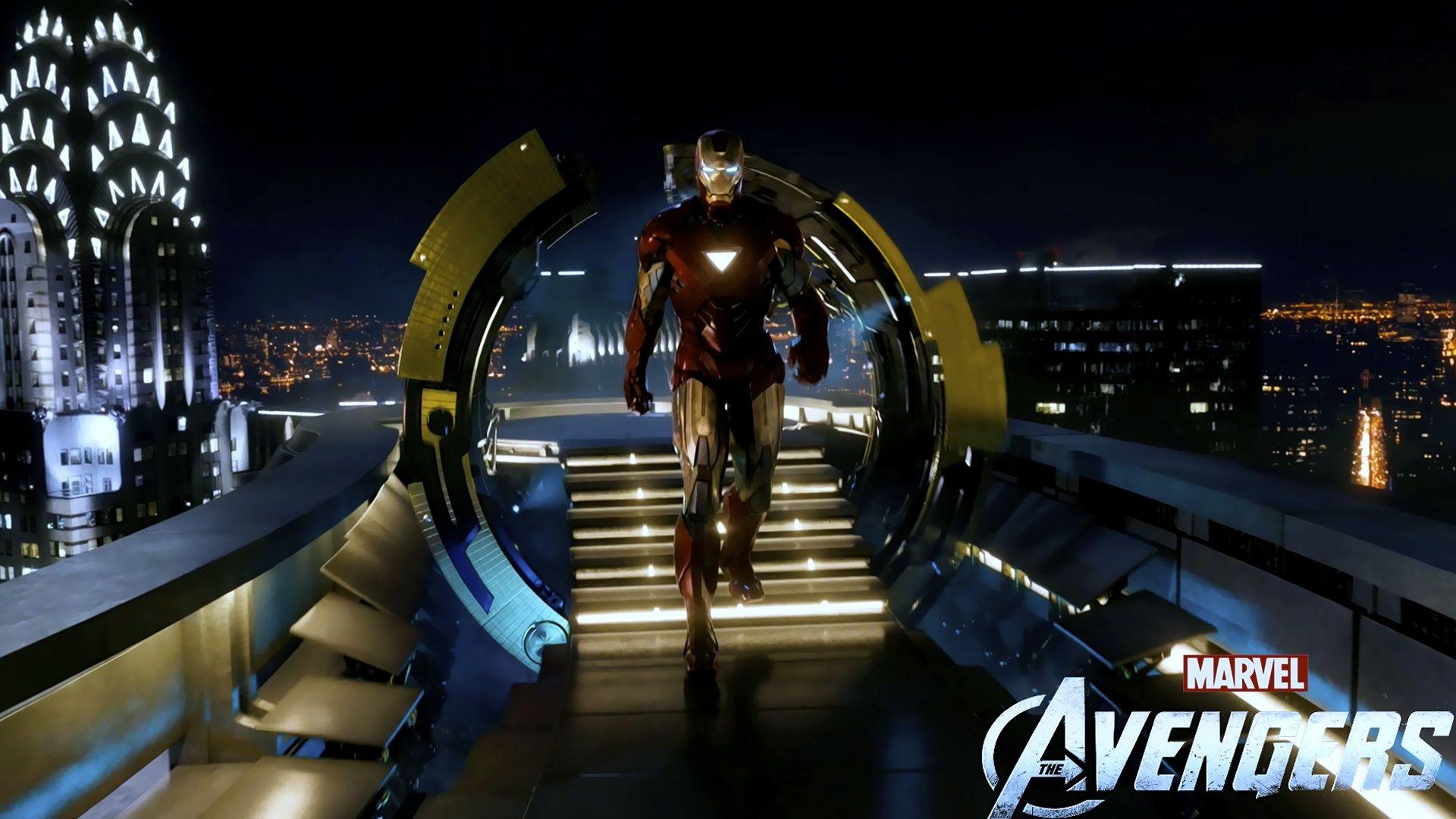Arriving at Stark tower Iron man hd wallpaper, Avengers