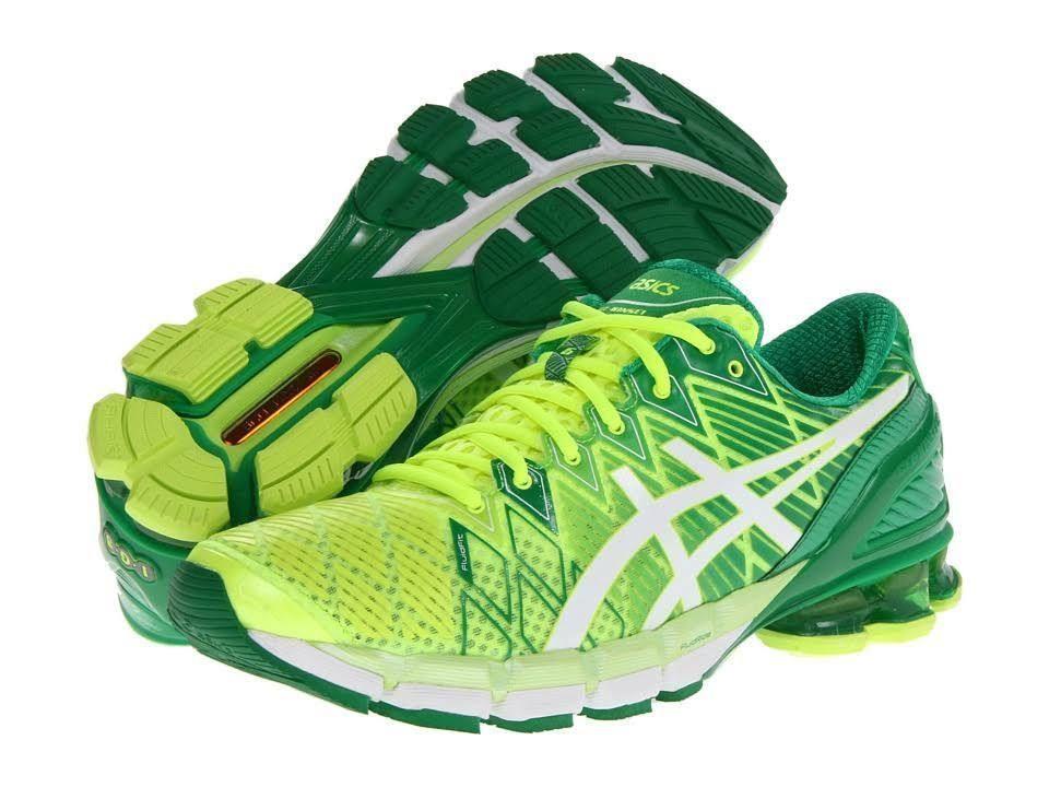 Asics Gel Kinsei 5 Mens Running Shoes Flash Yellow Green Medium D