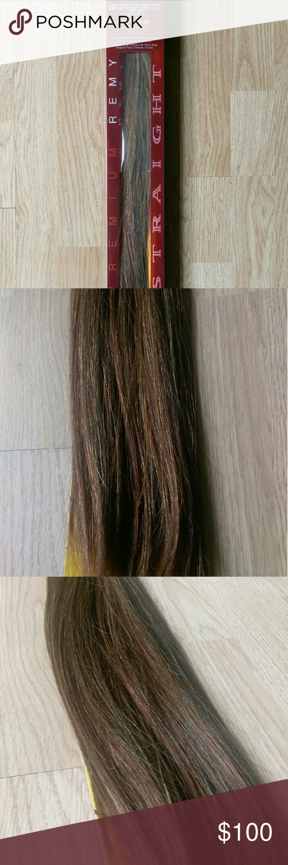 Euronext Clip In 18 Toffee Brown Hair Extensions Euronext 18 Clip