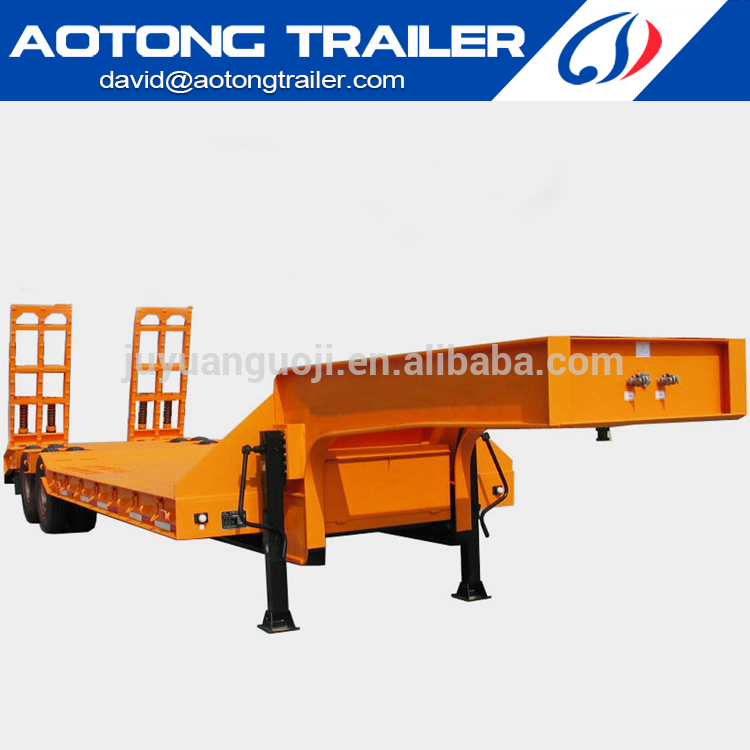 The truck flatbed semi trailer of gooseneck type from