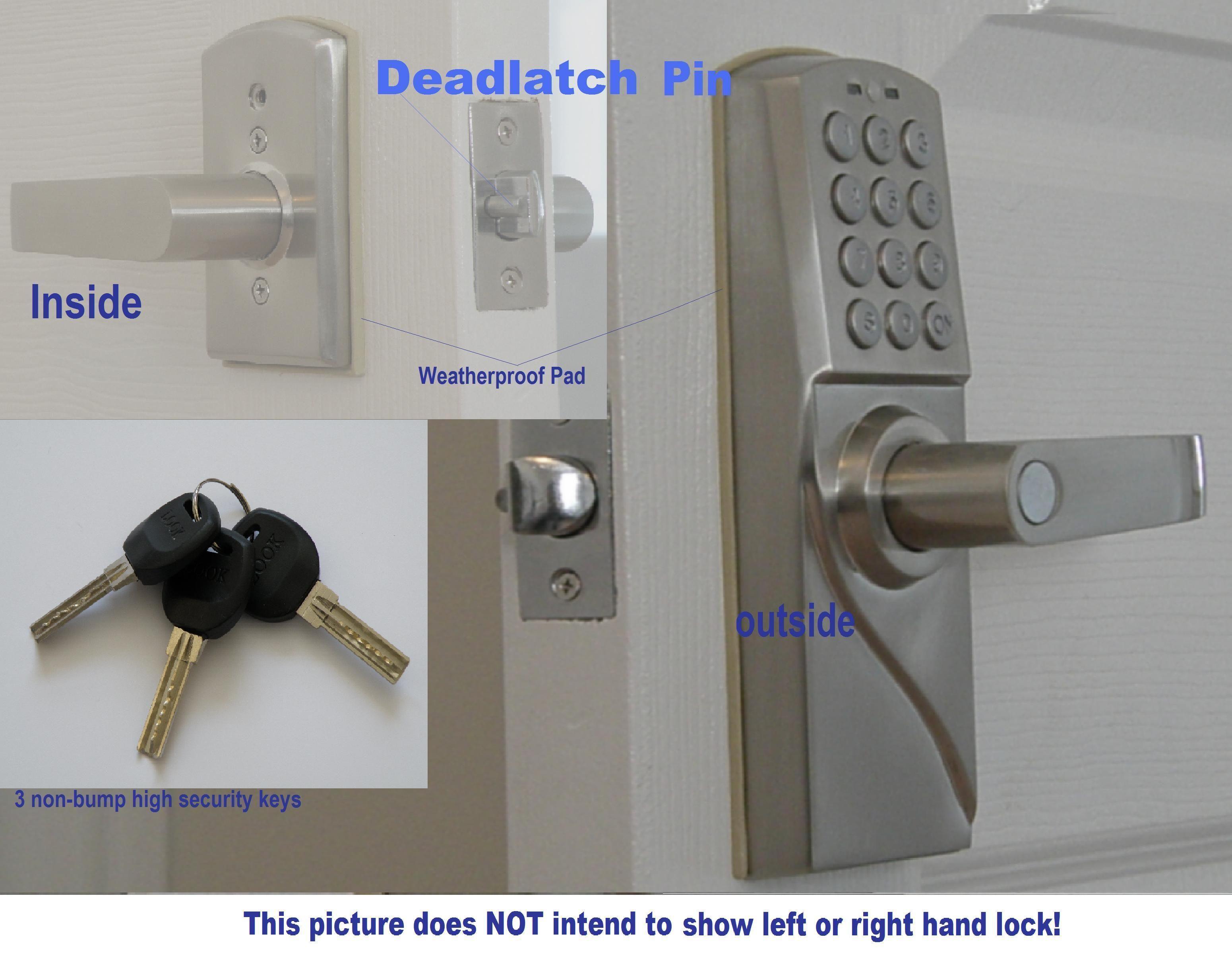 Security Electronic Digital Keypad Door Lock M Rdj Right Hand Keypad Digital Electronic Keyless Entry Doo Door Lock System Door Lock Security Keyless Door Lock