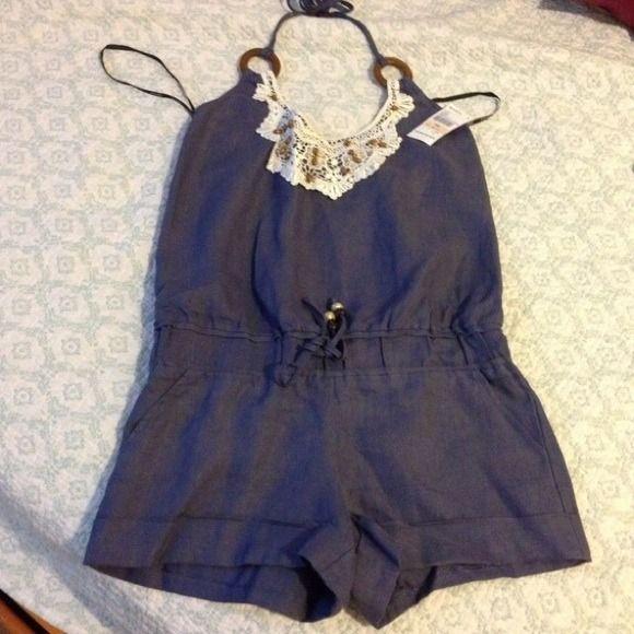 XOXO Romper size small. XOXO indigo romper. Size small. Brand new. XOXO Dresses