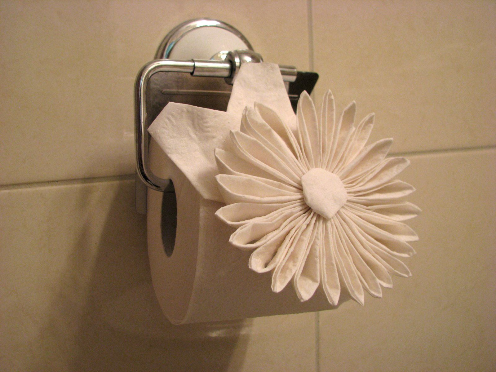 origami toilet paper flower still attached wonder how