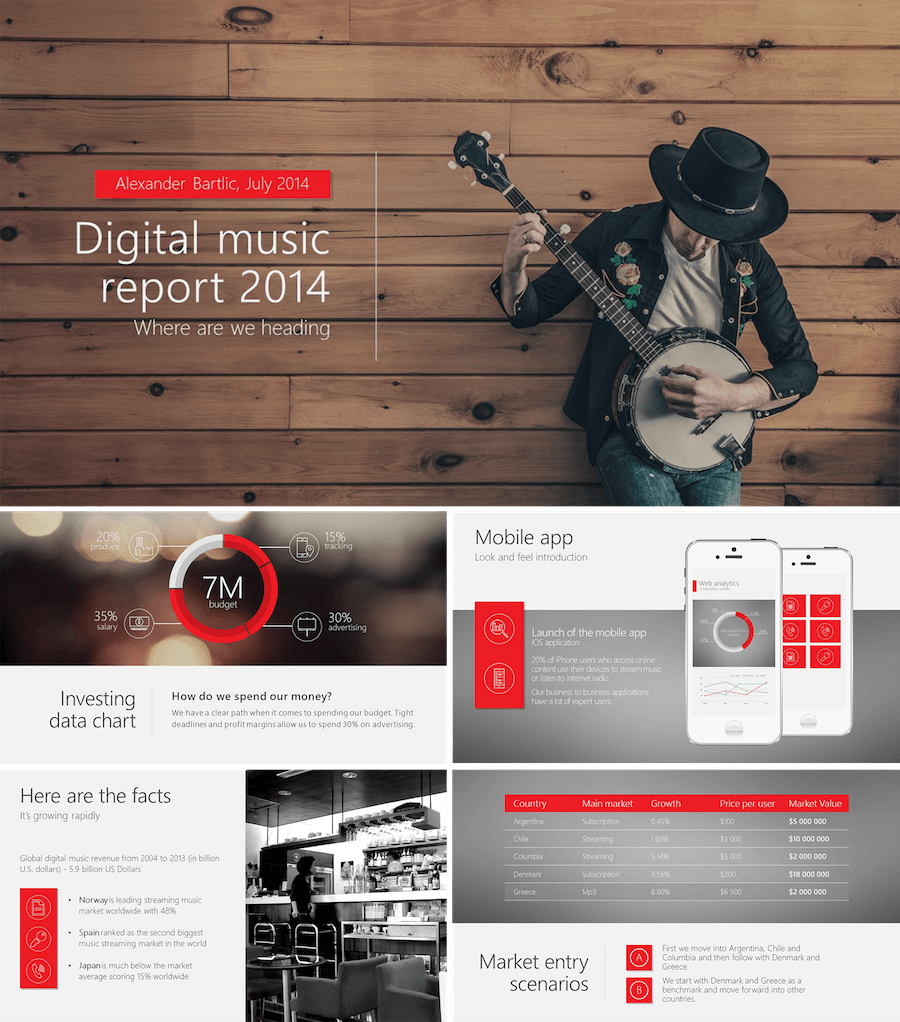 Business Template  Powerpoint    Template And