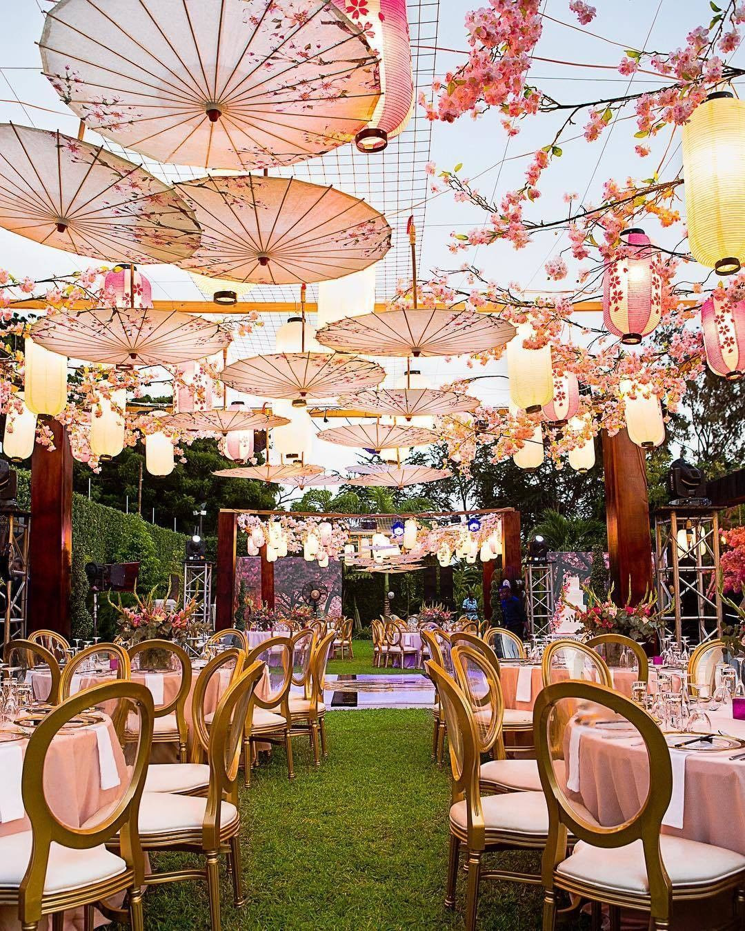 Pin Parasol Distance Maison this parasol & cherry blossom-filled ceiling is the stuff of